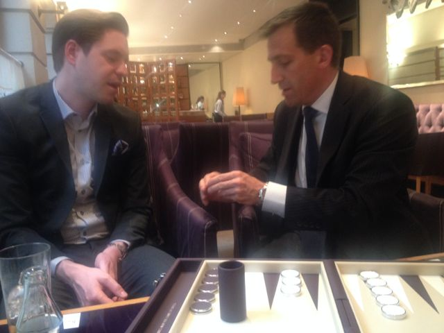 Afternoon Tea And Backgammon At The Halkin